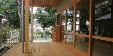 園舎 教室のベランダ